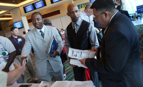 Image: Look for jobs during the RecruitMilitary Career Fair