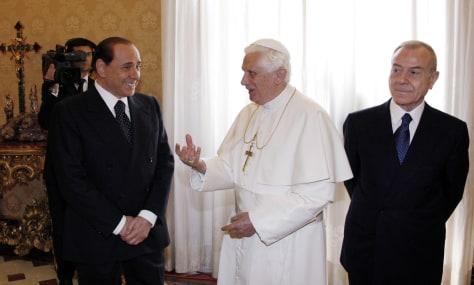 Image: Silvio Berlusconi, Pope Benedict XVI, Gianni Letta