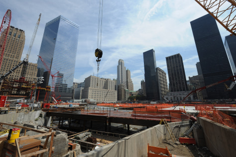 Image: Construction continues at the World Trade Center site