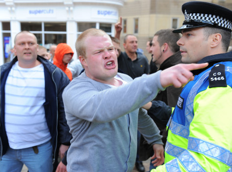 Image: Protestors from the English Defence League