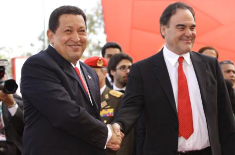 Image: Hugo Chavez, Oliver Stone