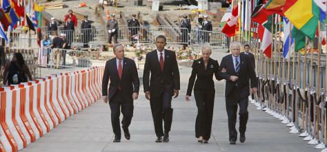 Image: John McCain, Barack Obama, Michael Bloomberg, Cindy McCain