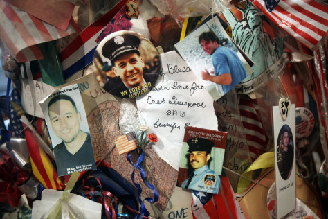 Image: Mementos at 9/11 Memorial Preview Site