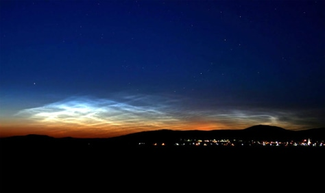 Image: Noctilucent clouds