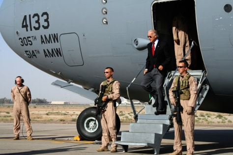 Image: Vice President Joe Biden arrives in Baghdad