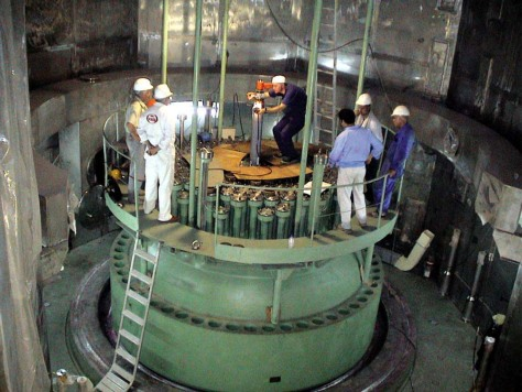 Image: Technicians in Iran's Boushehr nuclear power plant, southwest of the capital Tehran, Iran,