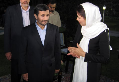 Image: Ann Curry, Mahmoud Ahmadinejad