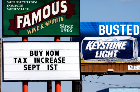 Image: Illinois liquor tax increase