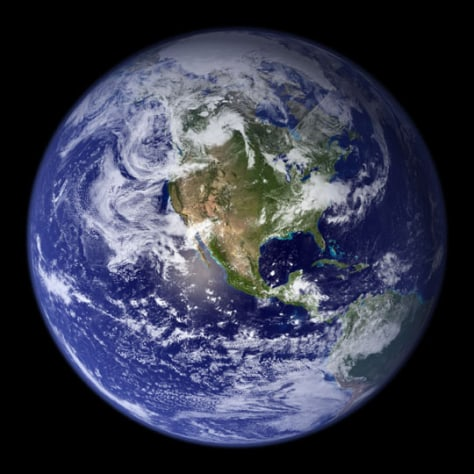 Image: A satellite view of Earth.