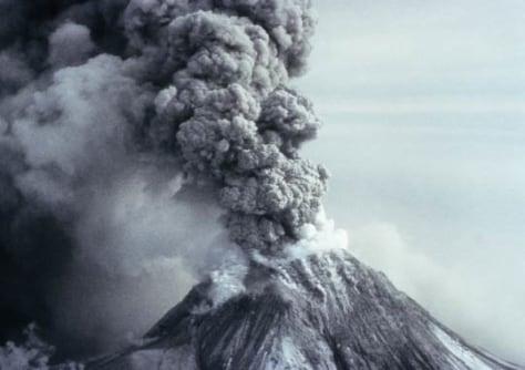 Image: Erupting volcano