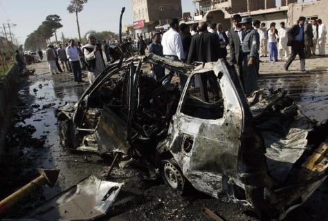 Image: Blast site in Herat, Afghanistan