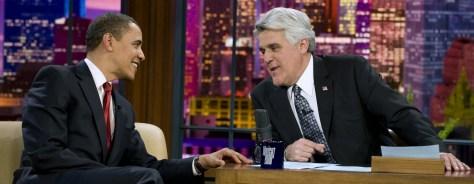 Image: Barack Obama and Jay Leno