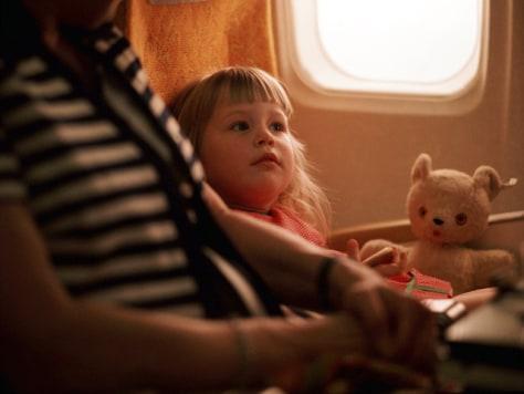 Image: Child on plane