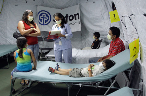 Image: Hospitals treat swine flu