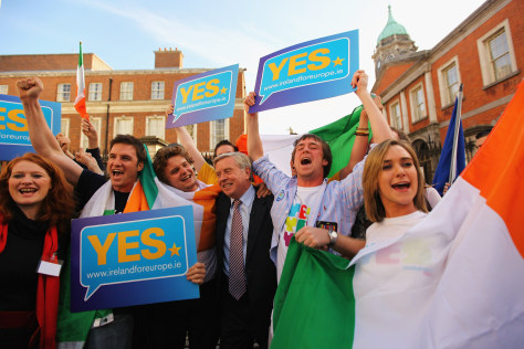 Image: Irish campaigners celebrate