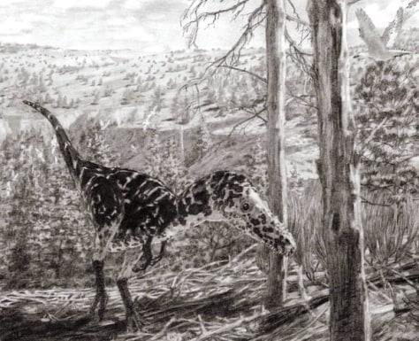 Image: Horned tyrannosaur