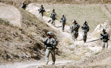 Image: Soldiers from the U.S. Army on patrol in Afghanistan
