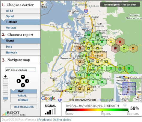 Image: Signal strength map