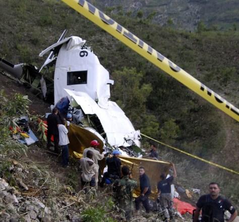 Image: Plane crash scene