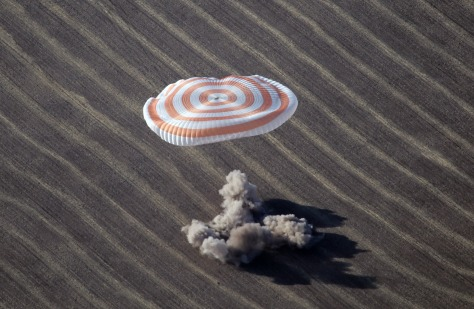 Image: The Soyuz spacecraft touches down