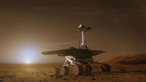 Image: An artist's depiction of a Mars rover