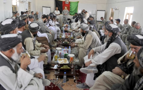 Image: Afghan tribal leaders and district officials