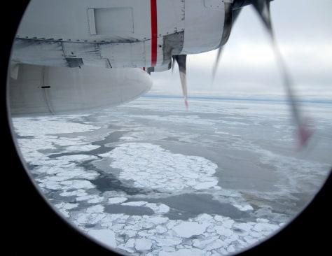 Image: Broken Arctic sea ice