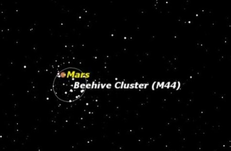 Image: Mars in Beehive cluster