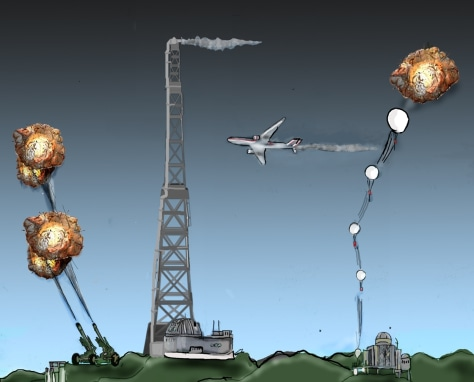 Image: Illustration of several geoengineering techniques