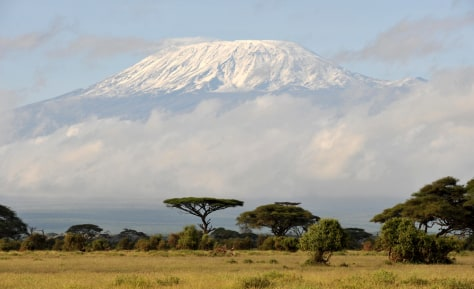Image: Fresh snow covers Mount Kilimanjaro
