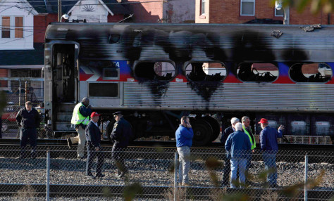Image: Burned commuter train
