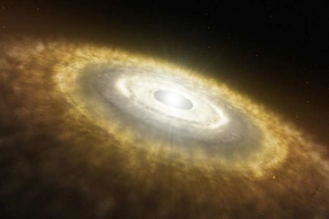 Image: Artist's rendering of baby star
