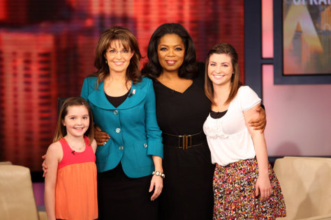 Image: Oprah Winfrey, Sarah Palin, Willow Palin, Piper Palin