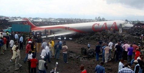 Image: Plane crash in Goma