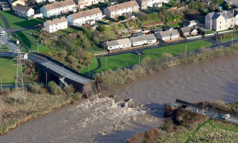 Image: A collapsed bridge in Workington