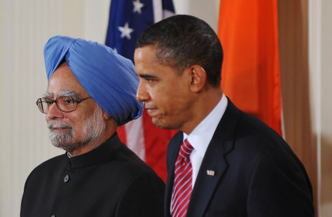 Image: Obama and Singh