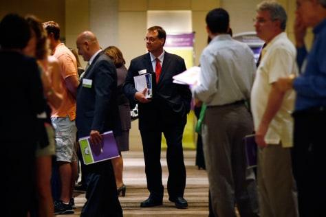 Image: Job Seekers Attend Career Fair