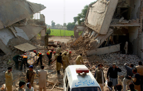 Image: Site of bomb explosion