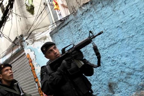 Image: Rio De Janeiro police on patrol
