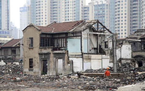 Image: Houses demolished for new construction in China