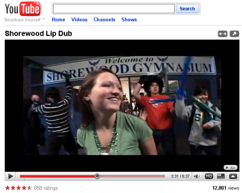 Image: Shorewood Lip Dub video on YouTube
