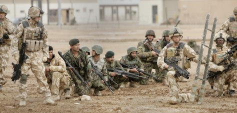 Image: British and Afghan soldiers practice their operation drills at Military Operating Base Shorabak in Helmand, Afghanistan