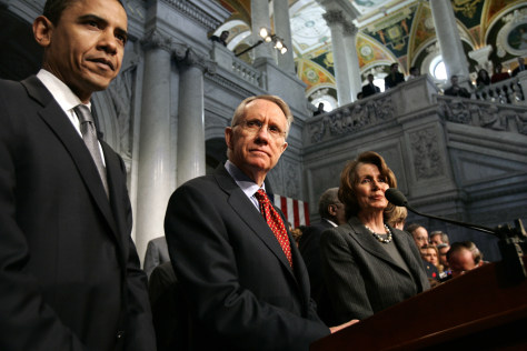 Image: Harry Reid, Nancy Pelosi, Barack Obama