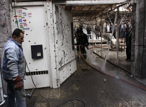 Image: Bomb blast scene in Tehran