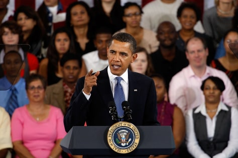 Image: Obama Hosts Town Hall Meeting In New Orleans