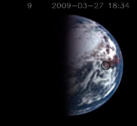 Image: A sun glint on Earth