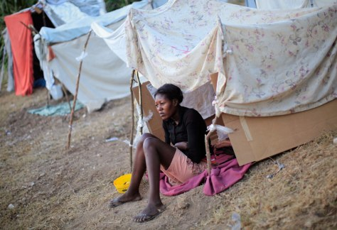 Image: Makeshift camp in Port-au-Prince, Haiti