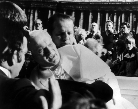 Image: Pope John Paul II after being shot