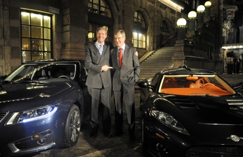 Image: Victor R Muller, CEO of Spyker Cars and Jan-Ake Jonsson CEO of Saab Automobile's AB