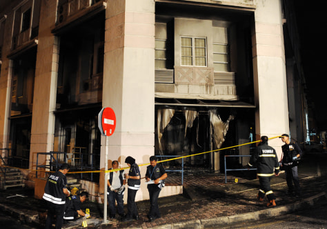 Image: Fire gutted administrative block of a Church in Malaysia